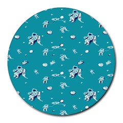 Space Astronaut Round Mousepads