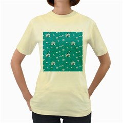 Space Astronaut Women s Yellow T-Shirt