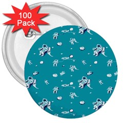 Space Astronaut 3  Buttons (100 pack)
