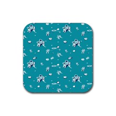 Space Astronaut Rubber Square Coaster (4 pack)