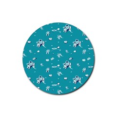 Space Astronaut Rubber Coaster (Round)