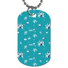 Space Astronaut Dog Tag (Two Sides)