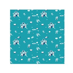 Space Astronaut Small Satin Scarf (Square)
