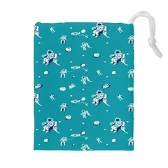 Space Astronaut Drawstring Pouches (Extra Large)
