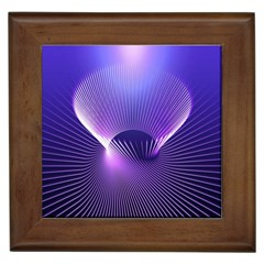 Space Galaxy Purple Blue Line Framed Tiles