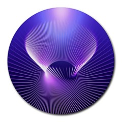 Space Galaxy Purple Blue Line Round Mousepads