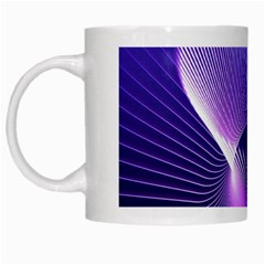 Space Galaxy Purple Blue Line White Mugs