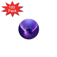 Space Galaxy Purple Blue Line 1  Mini Magnets (100 pack)