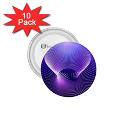 Space Galaxy Purple Blue Line 1.75  Buttons (10 pack)