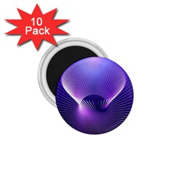 Space Galaxy Purple Blue Line 1.75  Magnets (10 pack)