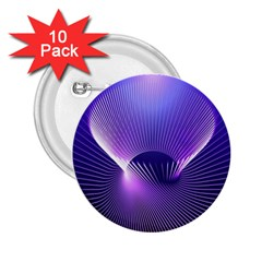 Space Galaxy Purple Blue Line 2.25  Buttons (10 pack)