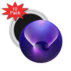 Space Galaxy Purple Blue Line 2.25  Magnets (10 pack)