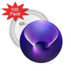 Space Galaxy Purple Blue Line 2.25  Buttons (100 pack)