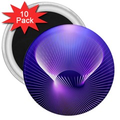 Space Galaxy Purple Blue Line 3  Magnets (10 pack)