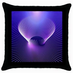Space Galaxy Purple Blue Line Throw Pillow Case (Black)