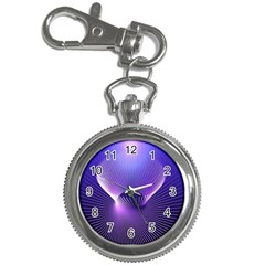 Space Galaxy Purple Blue Line Key Chain Watches