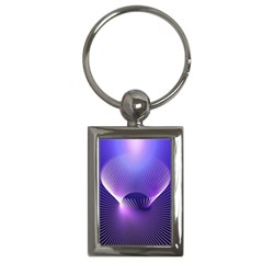 Space Galaxy Purple Blue Line Key Chains (Rectangle)