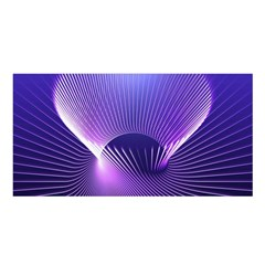 Space Galaxy Purple Blue Line Satin Shawl