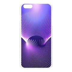 Space Galaxy Purple Blue Line Apple Seamless iPhone 6 Plus/6S Plus Case (Transparent)