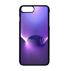 Space Galaxy Purple Blue Line Apple iPhone 7 Plus Seamless Case (Black)