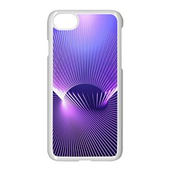 Space Galaxy Purple Blue Line Apple iPhone 7 Seamless Case (White)