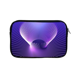 Space Galaxy Purple Blue Line Apple MacBook Pro 13  Zipper Case