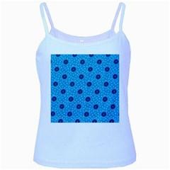 Shweshwe Fabric Baby Blue Spaghetti Tank