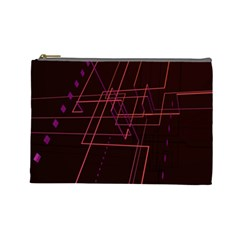 Space Path Line Cosmetic Bag (large)
