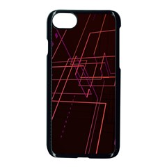 Space Path Line Apple iPhone 7 Seamless Case (Black)
