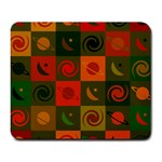 Space Month Saturnus Planet Star Hole Black White Multicolour Orange Large Mousepads Front