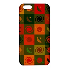 Space Month Saturnus Planet Star Hole Black White Multicolour Orange iPhone 6/6S TPU Case