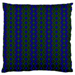 Split Diamond Blue Green Woven Fabric Large Cushion Case (Two Sides) Back