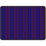 Split Diamond Blue Purple Woven Fabric Double Sided Fleece Blanket (Large)  80 x60 Blanket Front