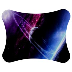 Space Pelanet Saturn Galaxy Jigsaw Puzzle Photo Stand (Bow)