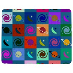 Space Month Saturnus Planet Star Hole Multicolor Jigsaw Puzzle Photo Stand (Rectangular)