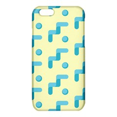 Squiggly Dot Pattern Blue Yellow Circle iPhone 6/6S TPU Case