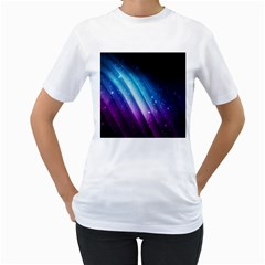 Space Purple Blue Women s T Shirt (white)