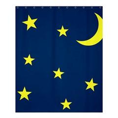 Star Moon Blue Sky Shower Curtain 60  X 72  (medium)