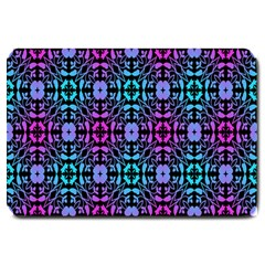 Star Flower Background Pattern Colour Large Doormat