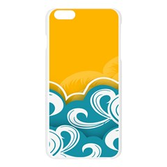 Summer Sea Water Wave Tree Yellow Blue Apple Seamless iPhone 6 Plus/6S Plus Case (Transparent)
