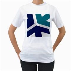 Tri Star Flag Women s T Shirt (white)