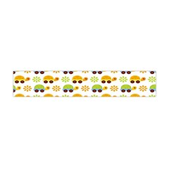 Turtle Green Yellow Flower Animals Flano Scarf (Mini)