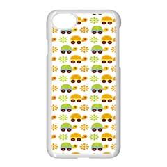 Turtle Green Yellow Flower Animals Apple Iphone 7 Seamless Case (white)