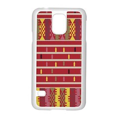 Woven Fabric Pink Samsung Galaxy S5 Case (white)
