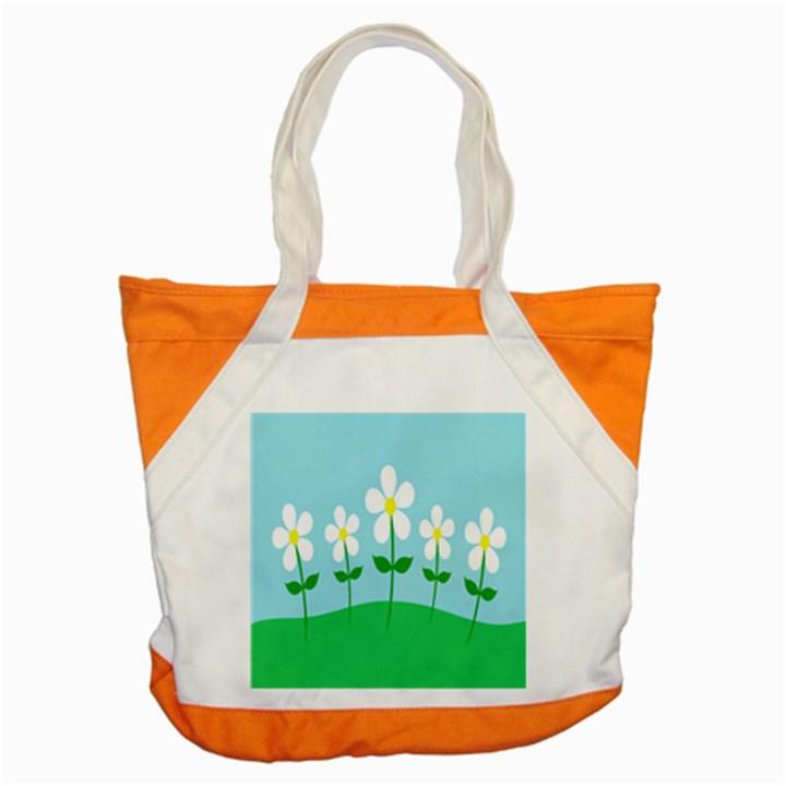 Flower Floral Blue Sky Green Leaf Accent Tote Bag