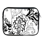 Free Floral Decorative Apple iPad 2/3/4 Zipper Cases Front