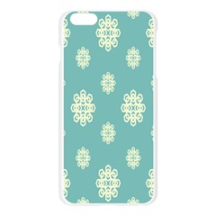 Geometric Snowflake Retro Snow Blue Apple Seamless iPhone 6 Plus/6S Plus Case (Transparent)