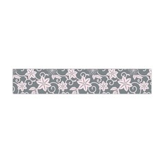 Gray Flower Floral Flowering Leaf Flano Scarf (Mini)