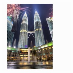New Years Eve Petronas Towers Kuala Lumpur Malaysia Small Garden Flag (two Sides)