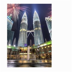 New Years Eve Petronas Towers Kuala Lumpur Malaysia Large Garden Flag (two Sides)
